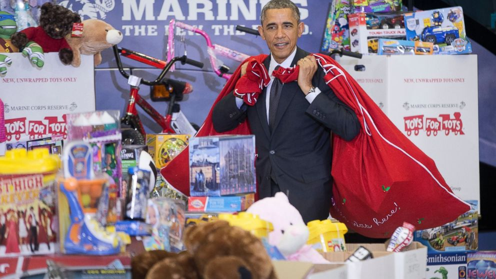 The Santa Clause 2 Toys For Tots : Obama i m the big elf like will ferrell abc news