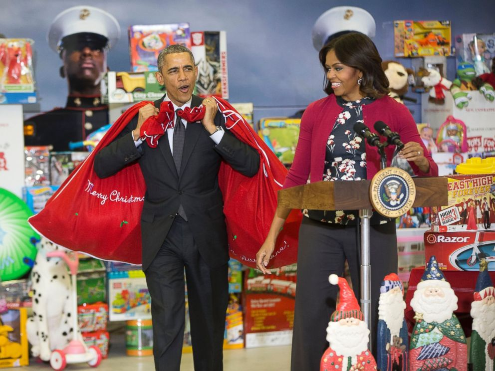 Motorcycles Presiodent Toys For Tots : Obama i m the big elf like will ferrell abc news