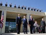 PHOTO: Presidents at Bush Center dedication