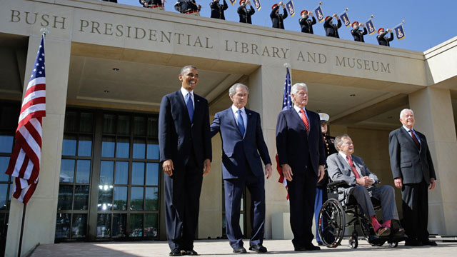 George W Bush U S Presidents Revisit His Legacy At Library