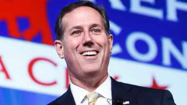 PHOTO: Former Senator Rick Santorum speaks at the Southern Republican Leadership Conference in Oklahoma City, May 21, 2015.
