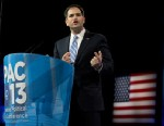 PHOTO: Sen. Marco Rubio, R-Fla., speaks at the 40th annual Conservative Political Action Conference in National Harbor, Md., on March 14, 2013.