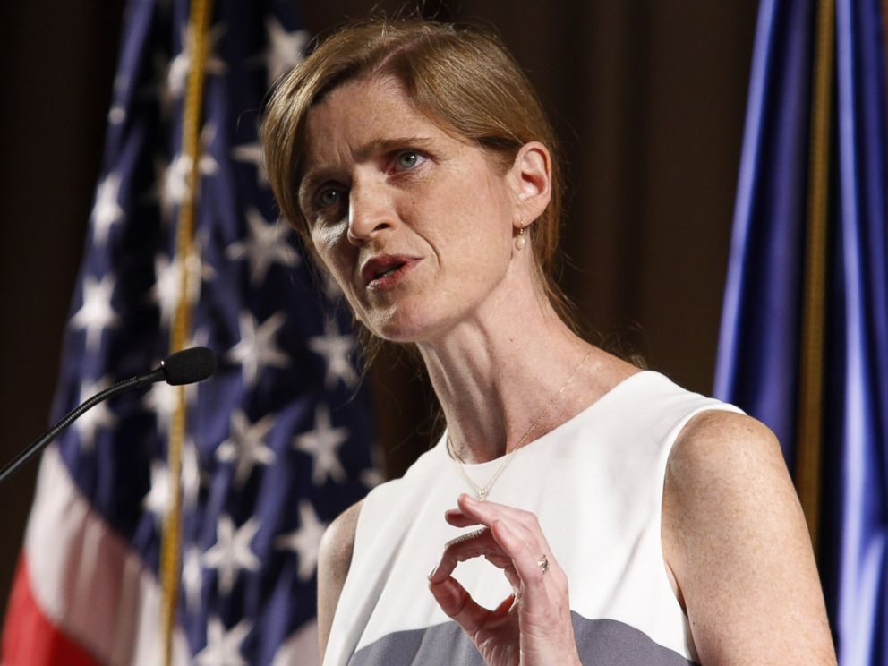 PHOTO: Samantha Power, the U.S. Ambassador to the United Nations, speaks in Kiev, Ukraine, June 11, 2015.