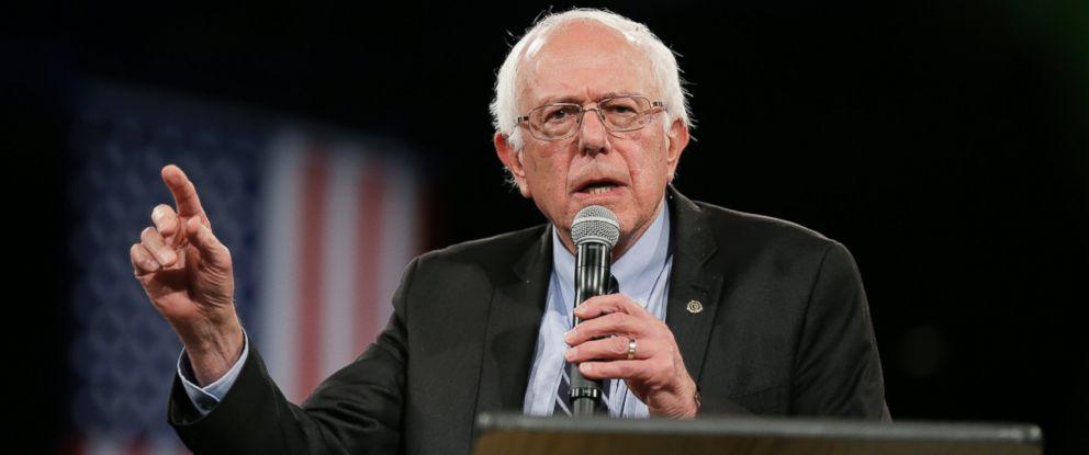 PHOTO: Democratic presidential candidate Sen. Bernie Sanders, I-Vt., speaks during the Iowa Democratic Partys Jefferson-Jackson Dinner, Saturday, Oct. 24, 2015, in Des Moines, Iowa.
