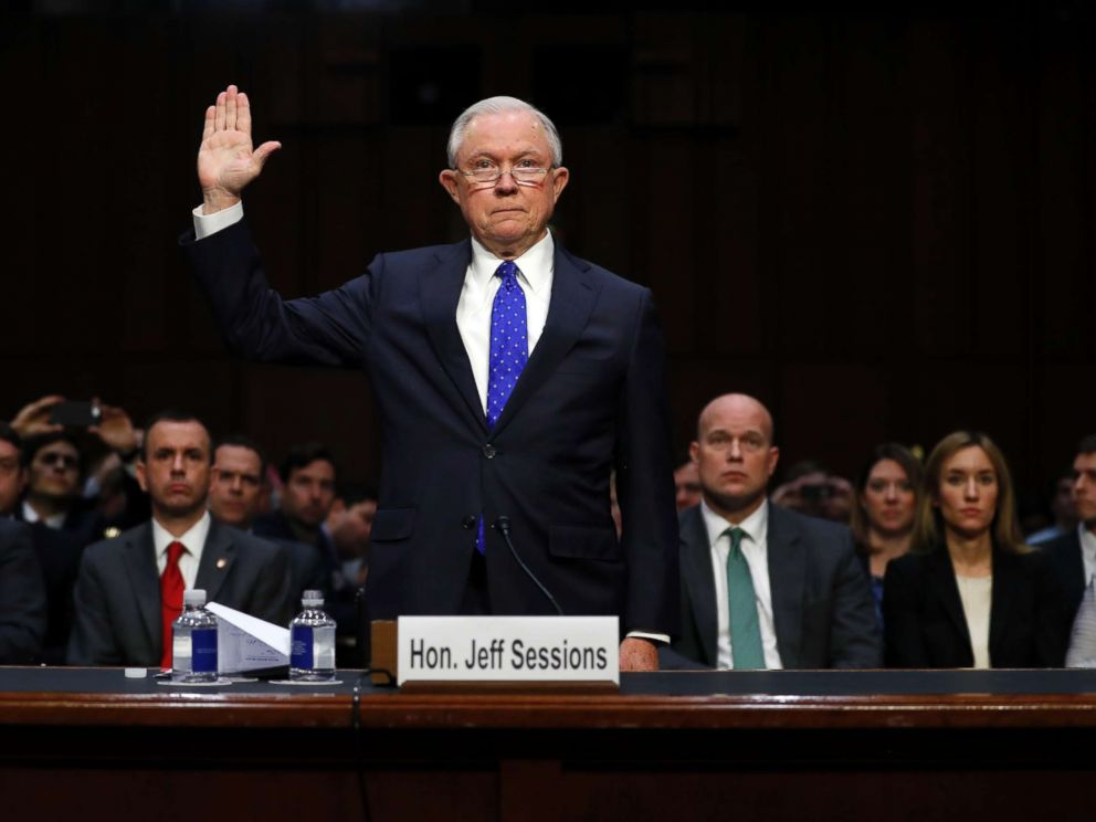 PHOTO: Attorney General Jeff Sessions is sworn in before the Senate Judiciary Committee on Capitol Hill in Washington, Wednesday, Oct. 18, 2017.