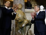 PHOTO: President Barack Obama and House Speaker John Boehner of Ohio applaud at the unveiling of a statue of Rosa Parks on Feb. 27, 2013, on Capitol Hill in Washington.