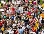 PHOTO: Tea party activists attend a rally on the grounds of the U.S. Capitol in Washington, June 19, 2013.