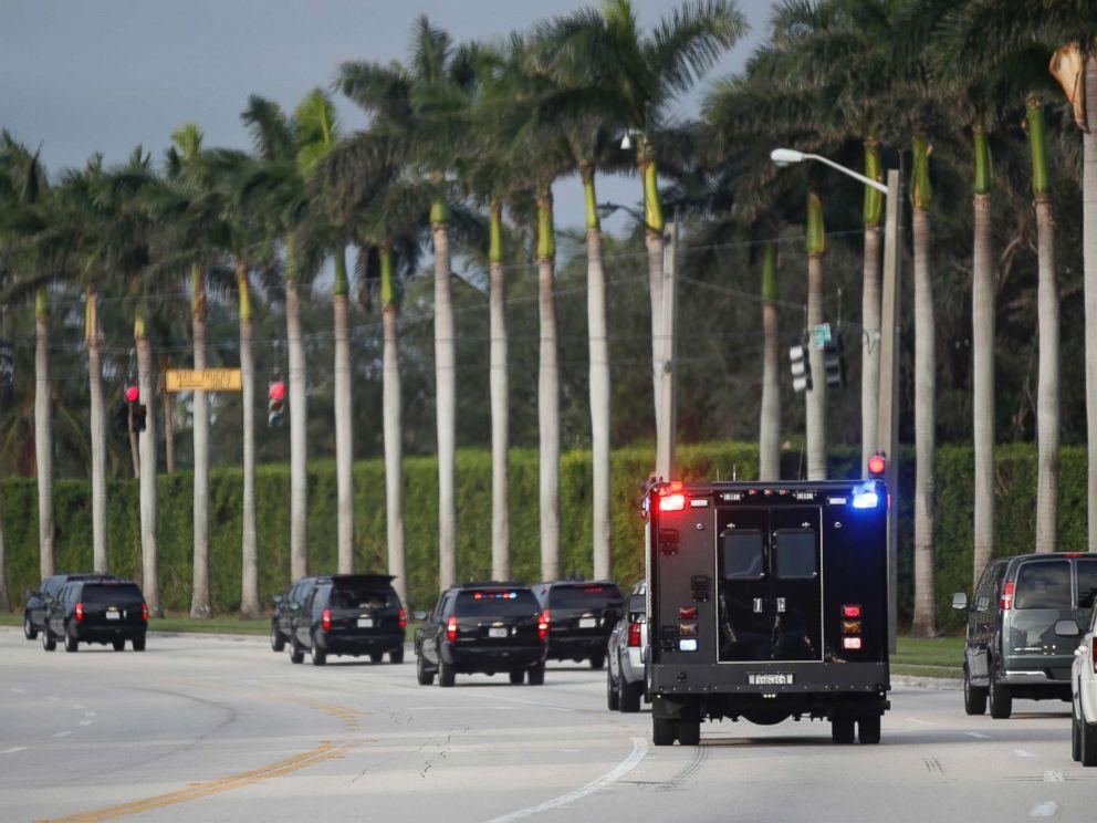 PHOTO: President Donald Trump heads to the Trump International Golf Club, Saturday, Nov. 25, 2017, in West Palm Beach, Fla.