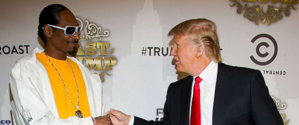 PHOTO: Snoop Dogg, left, and Donald Trump arrive to the Comedy Central Roast of Donald Trump in New York, Wednesday, March 9, 2011.