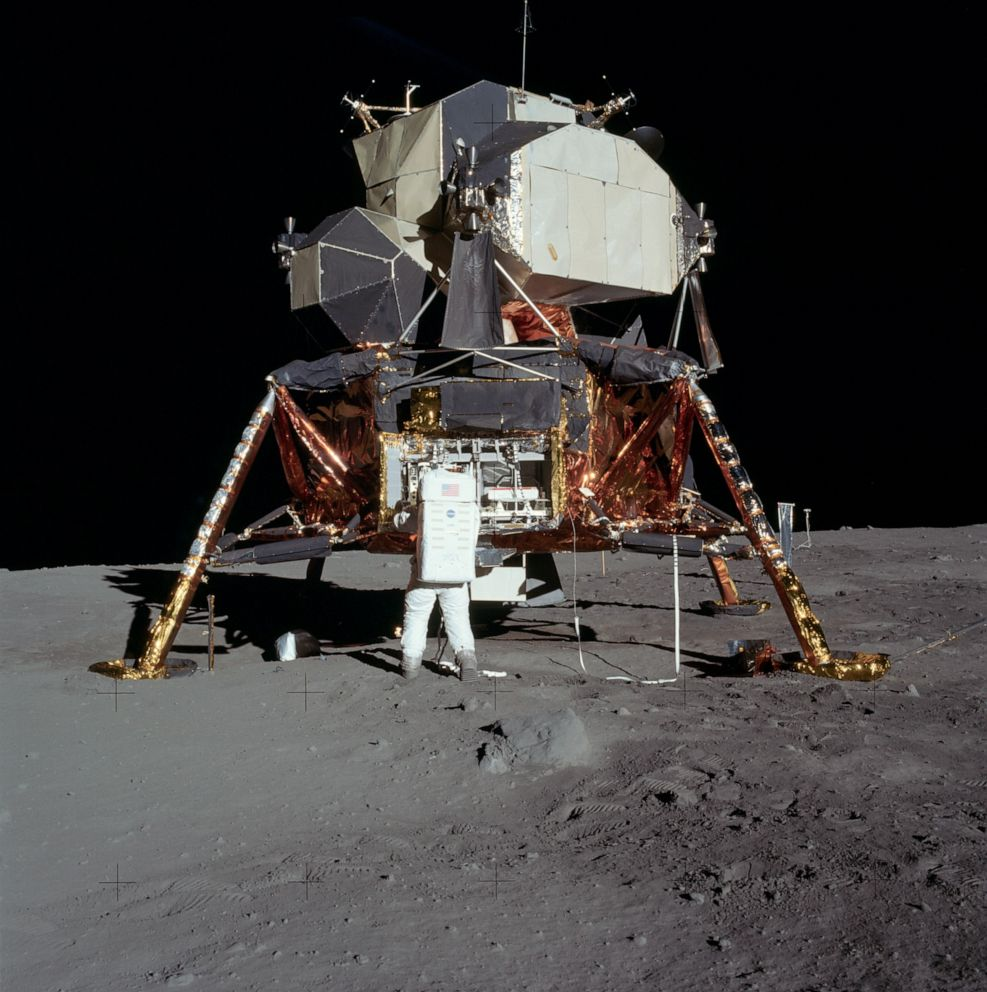 PHOTO: The Apollo 11 Lunar Module (LM) Eagle was the first crewed vehicle to land on the Moon.