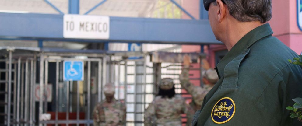 PHOTO: A U.S. Customs and Border Protection (CBP) agent watches while U.S. Army Engineers conduct site survey at a point of entry at the Arizona-Mexico border along the southern border of the U.S., Nov. 6, 2018.