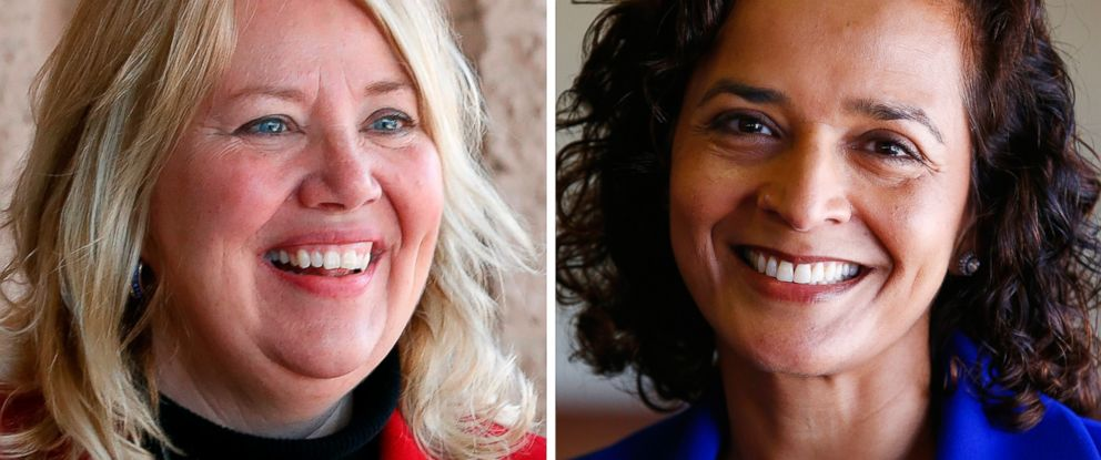PHOTO: Republican State Rep. Debbie Lesko and Democrat Dr. Hiral Tipirneni are competing for a congressional seat in Arizonas special election.