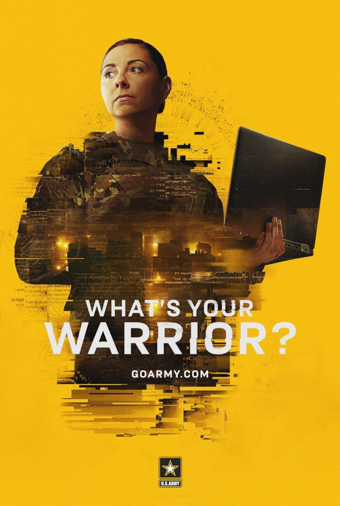 PHOTO: Captain Erika Alvarado, who serves on an Army Reserve Cyber Protection Team is seen in the Armys new recruiting campaign Whats Your Warrior