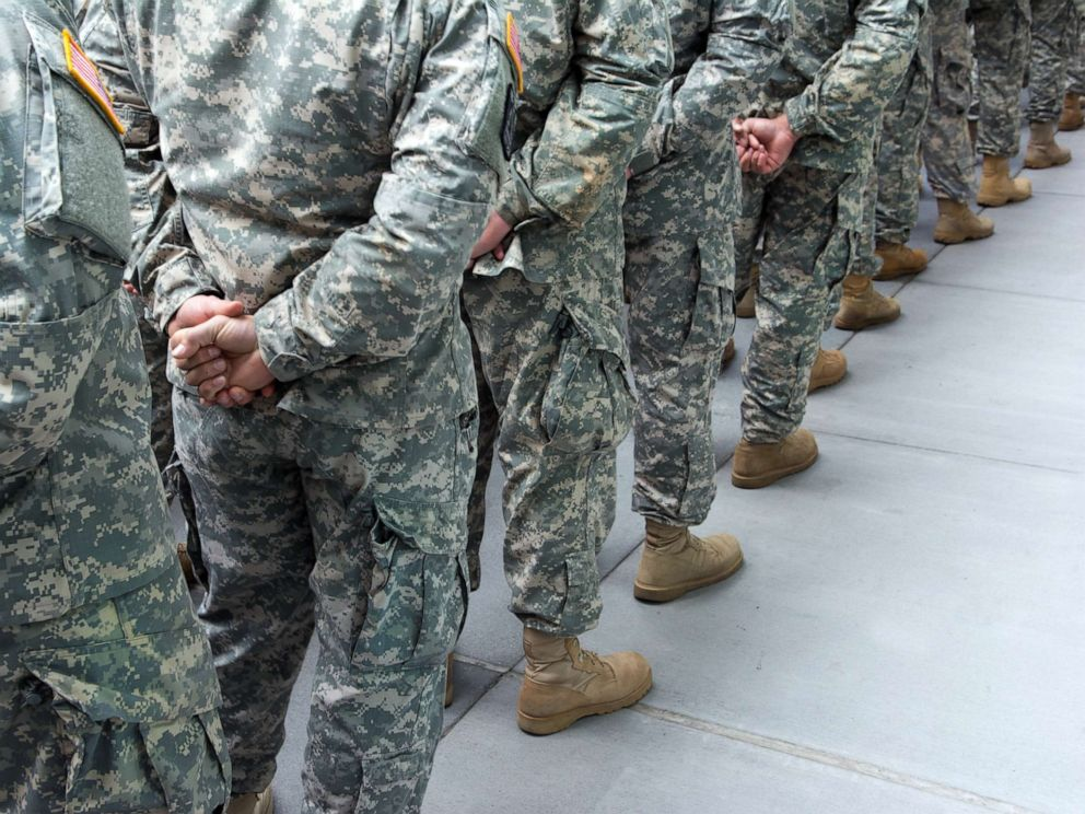 PHOTO: Soldiers stand at attention in this stock photo.
