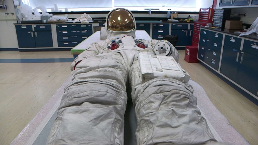 PHOTO: Since 2015, the Smithsonian has raised more than $700,000 through a Reboot the Suit campaign to conserve, digitize, and display Neil Armstrongs suit after it was placed in storage in 2006 to minimize signs of aging.