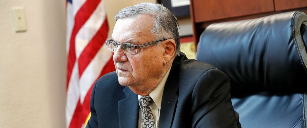 PHOTO: Former Maricopa County Sheriff and U.S. Senate candidate Joe Arpaio speaks at his office, Jan. 10, 2018, in Fountain Hills, Ariz.