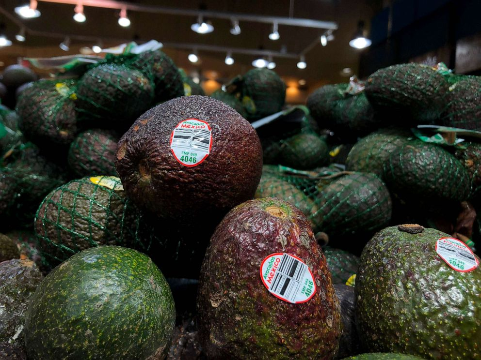 PHOTO: Avocados from Mexico for sale in a store in Washington, D.C. The U.S. intends to apply punitive tariffs on imports from Mexico on June 10, 2019.