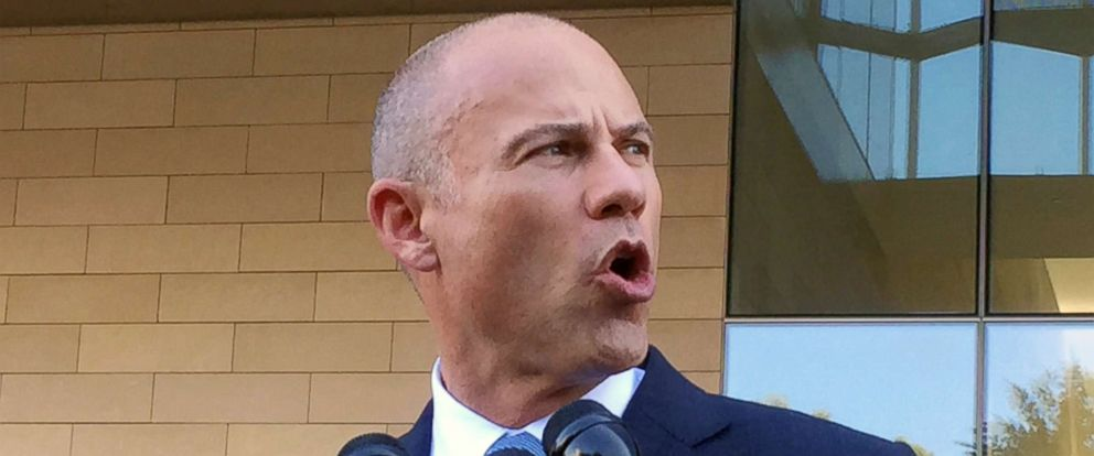 PHOTO: Michael Avenatti shown speaking to reporters after a federal court hearing in Los Angeles, Sept. 24, 2018.