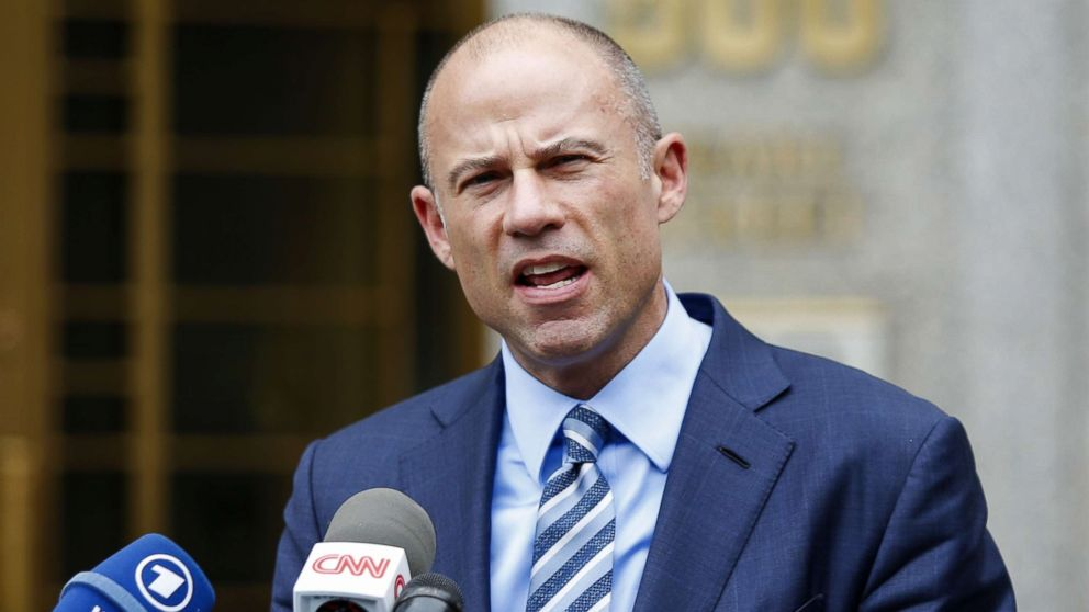 Michael Avenatti, lawyer of adult-film actress Stormy Daniels speaks to media as he exits court in  New York, May 30, 2018.