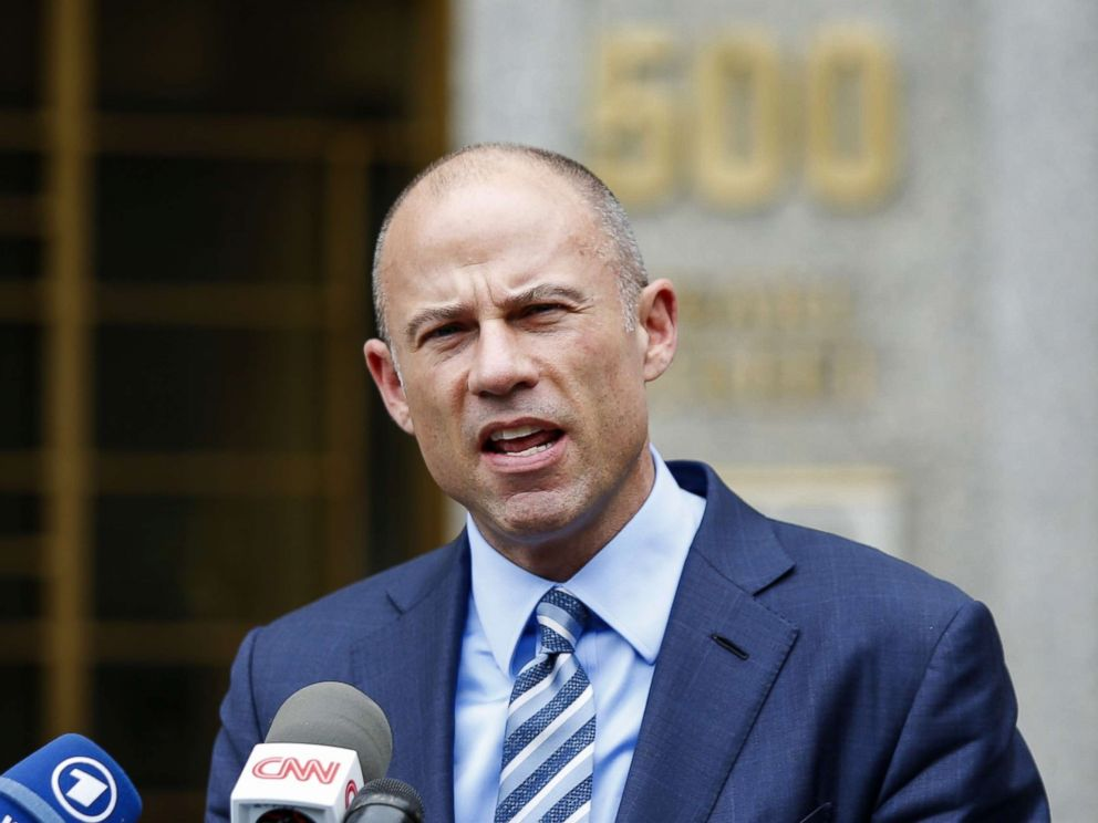 PHOTO: Michael Avenatti, lawyer of adult-film actress Stormy Daniels speaks to media as he exits court in New York, May 30, 2018.