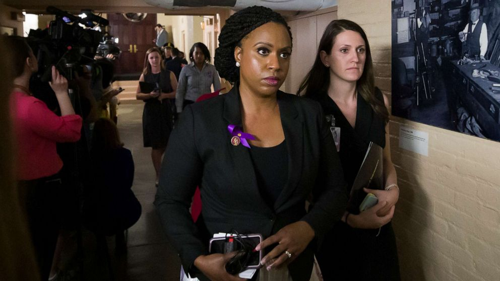Rep. Ayanna Pressley reveals she has alopecia in new interview thumbnail