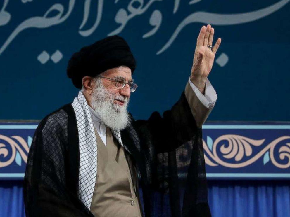 PHOTO: Irans Supreme Leader Ayatollah Ali Khamenei is seen at the Hussayniyeh of Imam Khomeini in Tehran, Iran, Aug. 13, 2018.