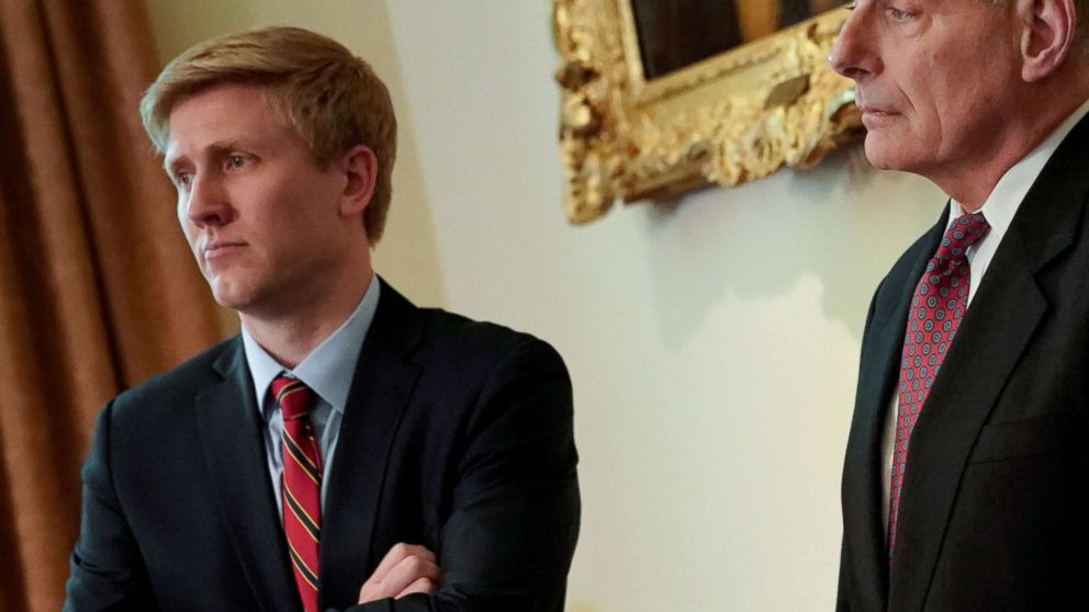 Nick Ayers (L), chief of staff to U.S. Vice President Mike Pence looks on as President Donald Trump holds a cabinet meeting at the White House, May 9, 2018. Picture taken May 9, 2018.