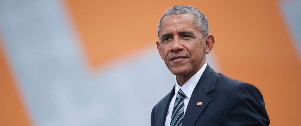 PHOTO: Former President Barack Obama is seen after a discussion about democracy at Church Congress, May 25, 2017 in Berlin, Germany.