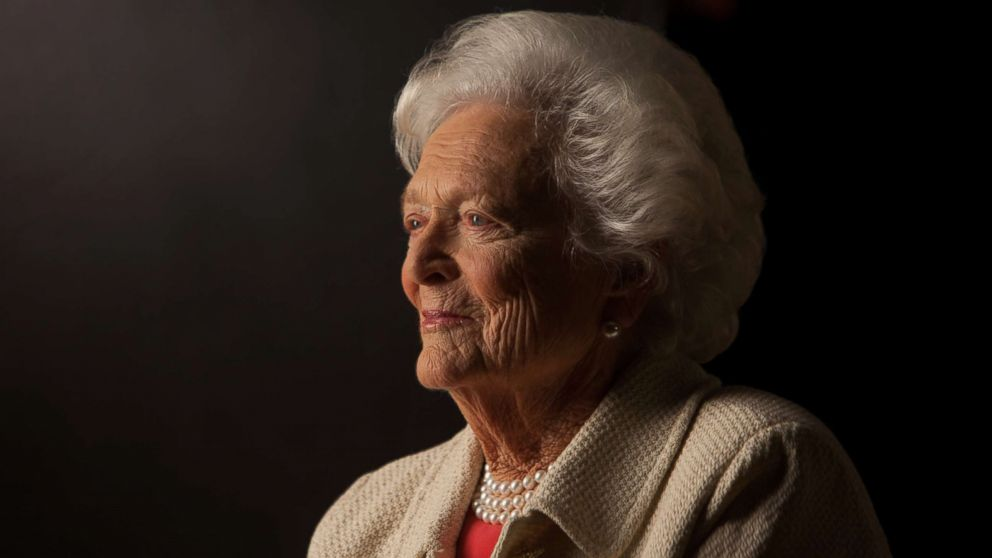 Former First Lady Barbara Bush is interviewed for 'The Presidents' Gatekeepers' project about the White House Chiefs of Staff at the Bush Library, Oct. 24, 2011, in College Station, Texas.