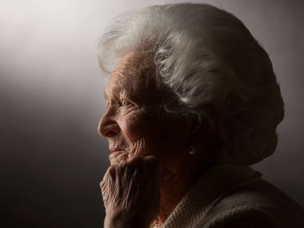 PHOTO: Former First Lady Barbara Bush is interviewed for The Presidents Gatekeepers project about the White House Chiefs of Staff at the Bush Library, Oct. 24, 2011 in College Station, Texas.