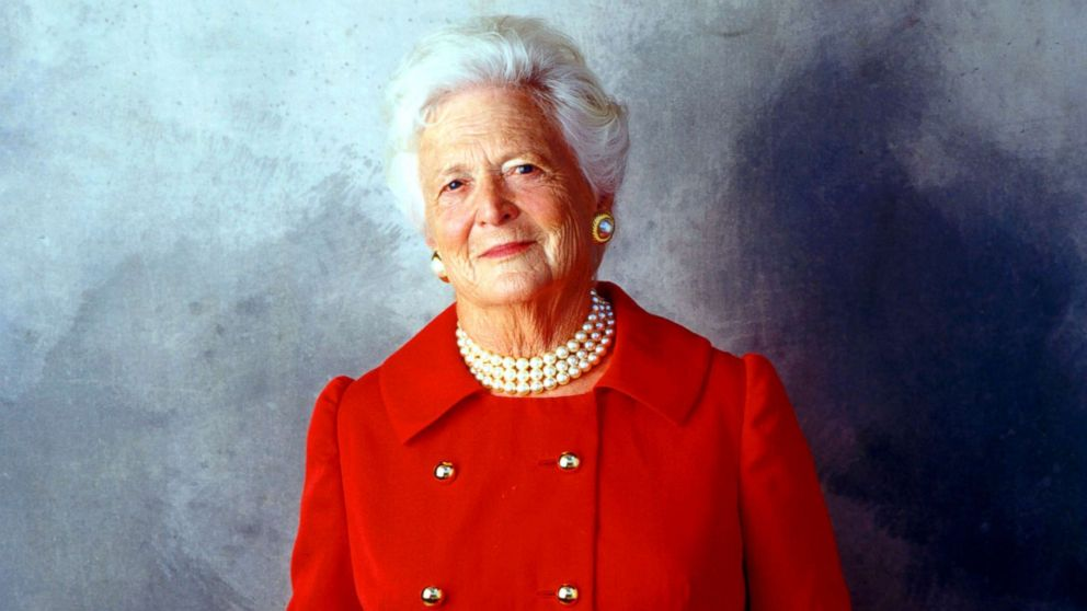 Former First Lady Barbara Bush is seen on Aug. 23, 2001 in Houston.