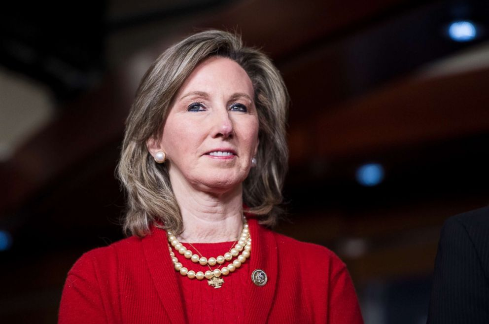 PHOTO: Rep. Barbara Comstock, participates in the Bipartisan Heroin Task Force news conference on the release of the 2018 legislative agenda for the 115th Congress, Jan. 10, 2018.