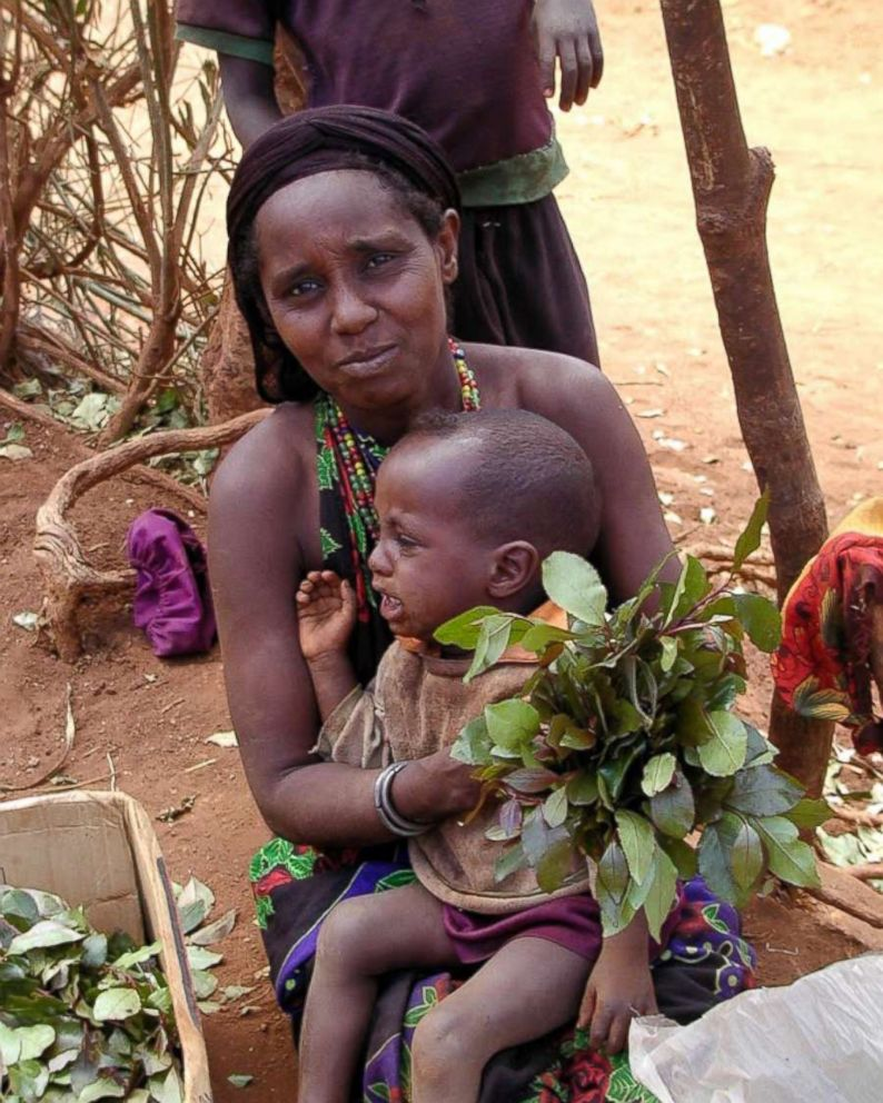 A Kenyan mother with her son