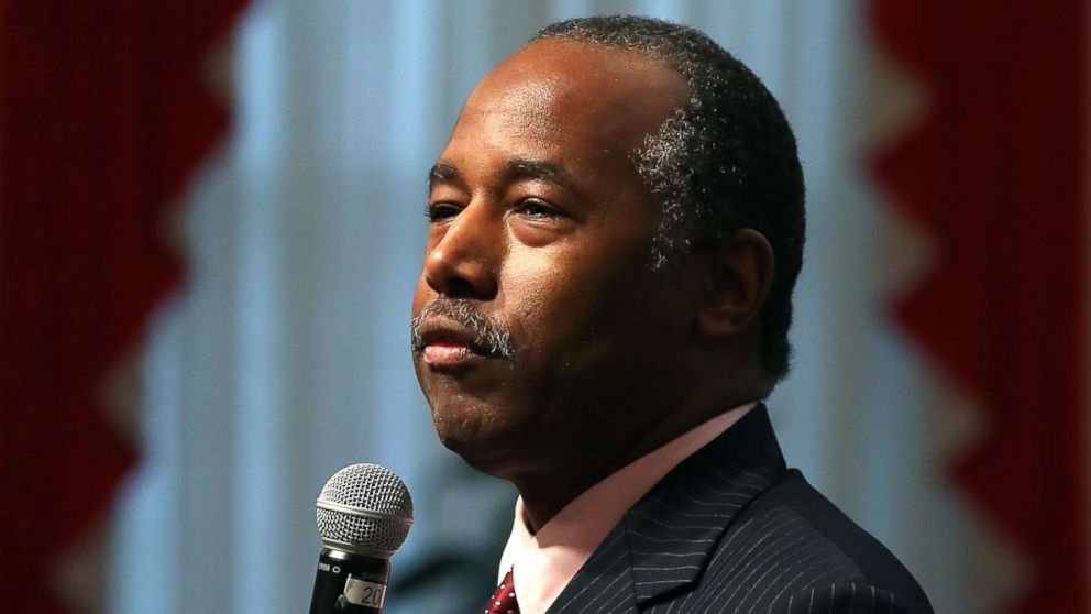 HUD Secretary Ben Carson speaks during a news conference on Dec. 15, 2017 in Washington.