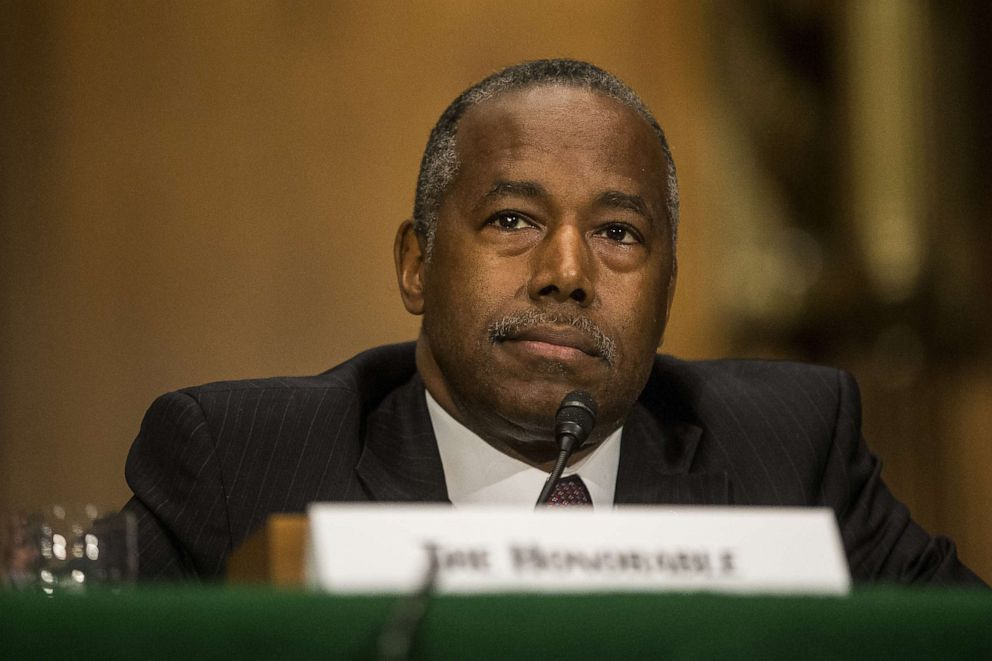 PHOTO: Housing and Urban Development Secretary Ben Carson testifies during a Senate Banking, Housing, and Urban Affairs Committee hearing on September 10, 2019, in Washington, D.C.