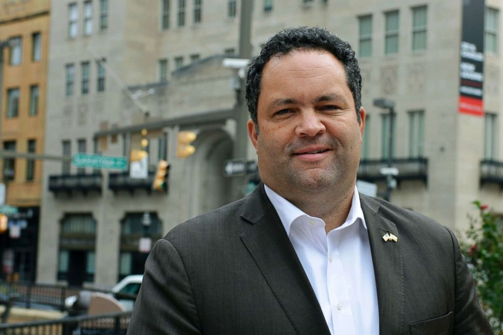 PHOTO: Ben Jealous, a former NAACP president who is running as the Democrat for governor of Maryland, poses for a photograph in Baltimore, Oct. 16, 2018.