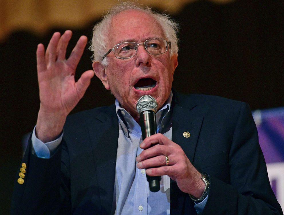 Sen. Bernie Sanders, I-Vt., speaks at an Ohio workers town hall meeting, April 14, 2019, in Warren, Ohio.