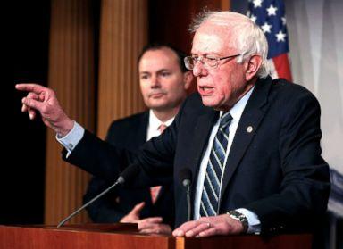 PHOTO: Senator Bernie Sanders speaks on Capitol Hill in Washington, D.C., Dec. 13, 2018.