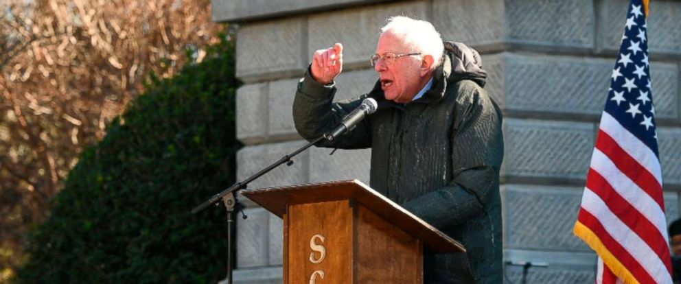 PHOTO: Sen. Bernie Sanders speaks during Martin Luther King Jr. Day celebrations at the South Carolina Statehouse in Columbia, S.C., Jan. 21, 2019.