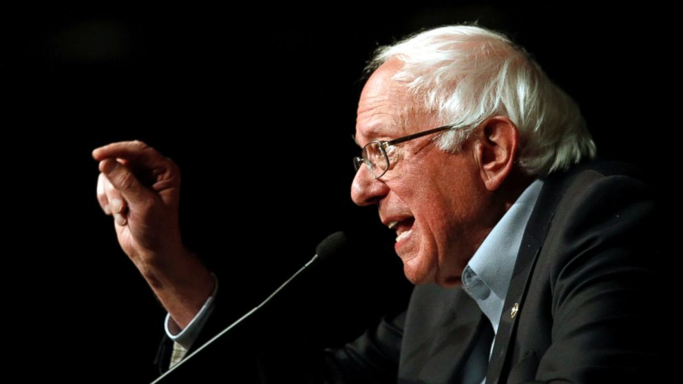 In this Oct. 30, 2018 file photo, Sen. Bernie Sanders, I-Vt., speaks at a campaign rally in Bethesda, Md.