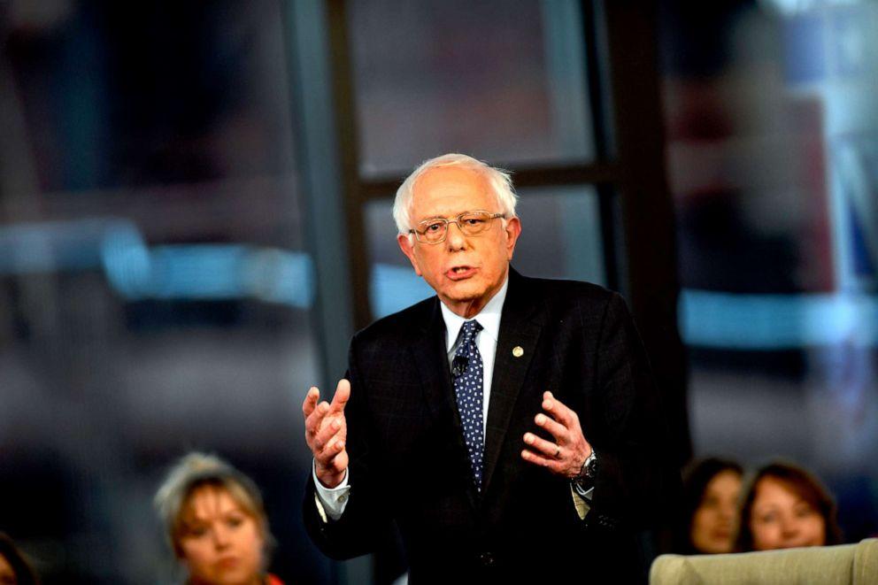 PHOTO: Sen. Bernie Sanders participates in a FOX News Town Hall at SteelStacks, April 15, 2019, in Bethlehem, Pennsylvania.