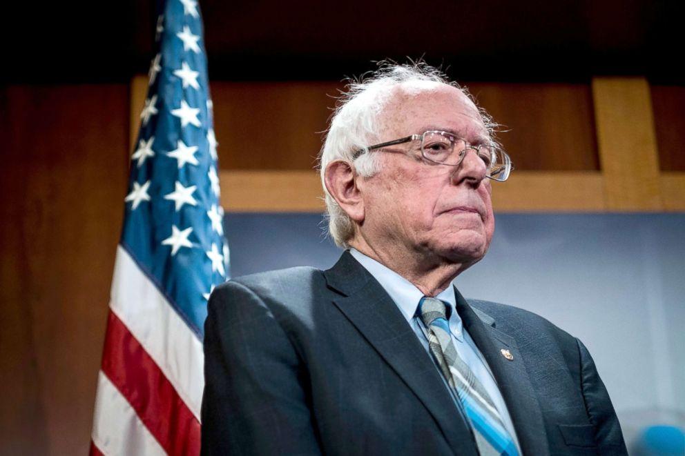 PHOTO: Senator Bernie Sanders speaks during a press conference on Capitol Hill in Washington, DC, Jan. 30, 2019.