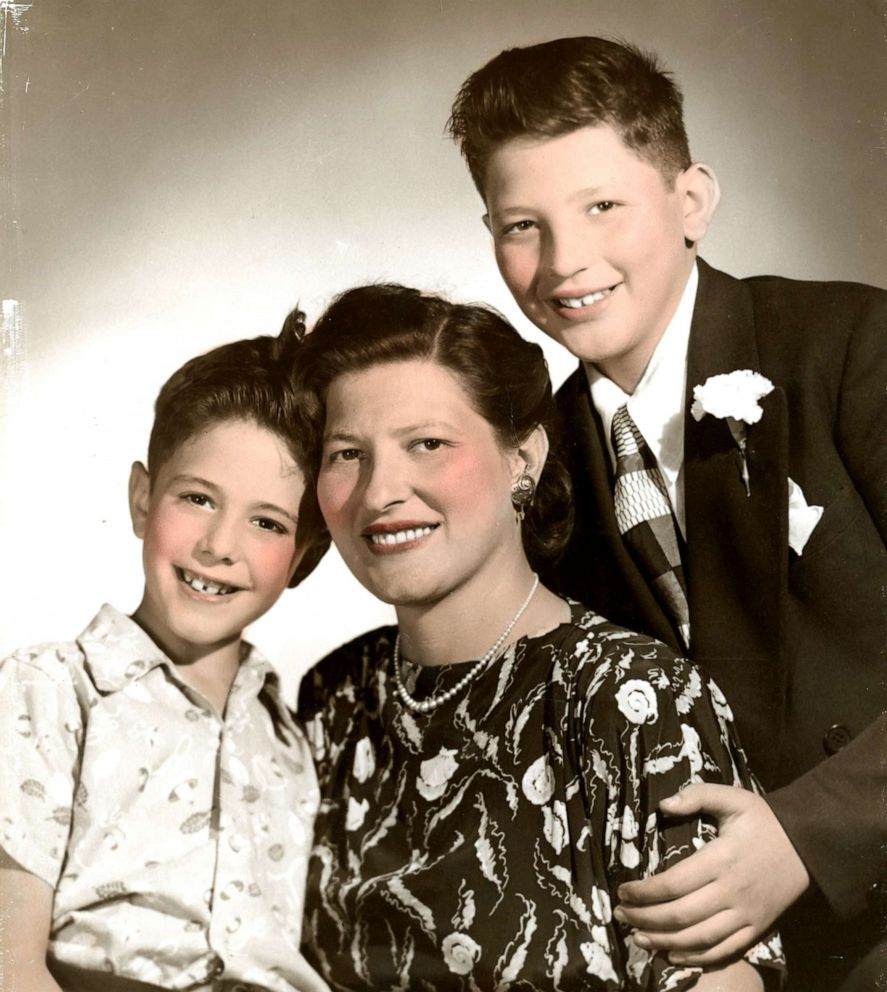 PHOTO: Sen. Bernie Sanders (left) pictured with his mother Dorothy (center) and brother Larry (left), undated.