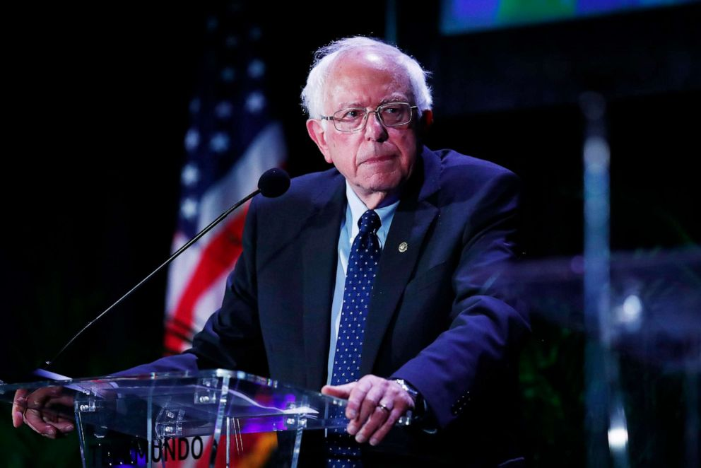 PHOTO: Democratic presidential candidate Sen. Bernie Sanders pauses while speaking during a forum on June 21, 2019, in Miami.