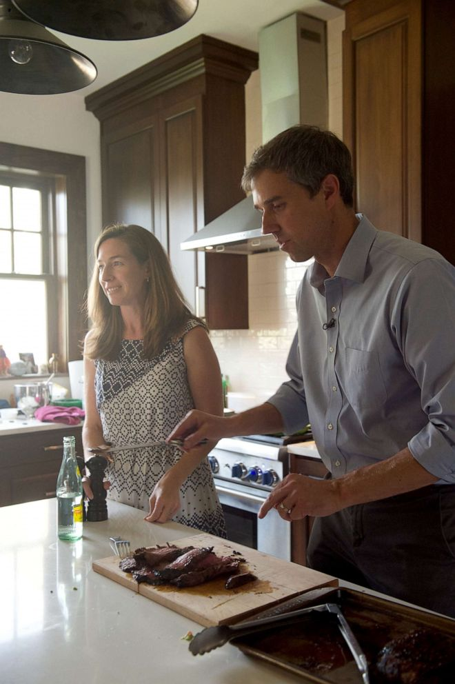 PHOTO: ABC News Byron Pitts joins 2020 Democratic Presidential Candidate Beto ORourke and his family for dinner in their El Paso, Texas, home with three undecided voters.