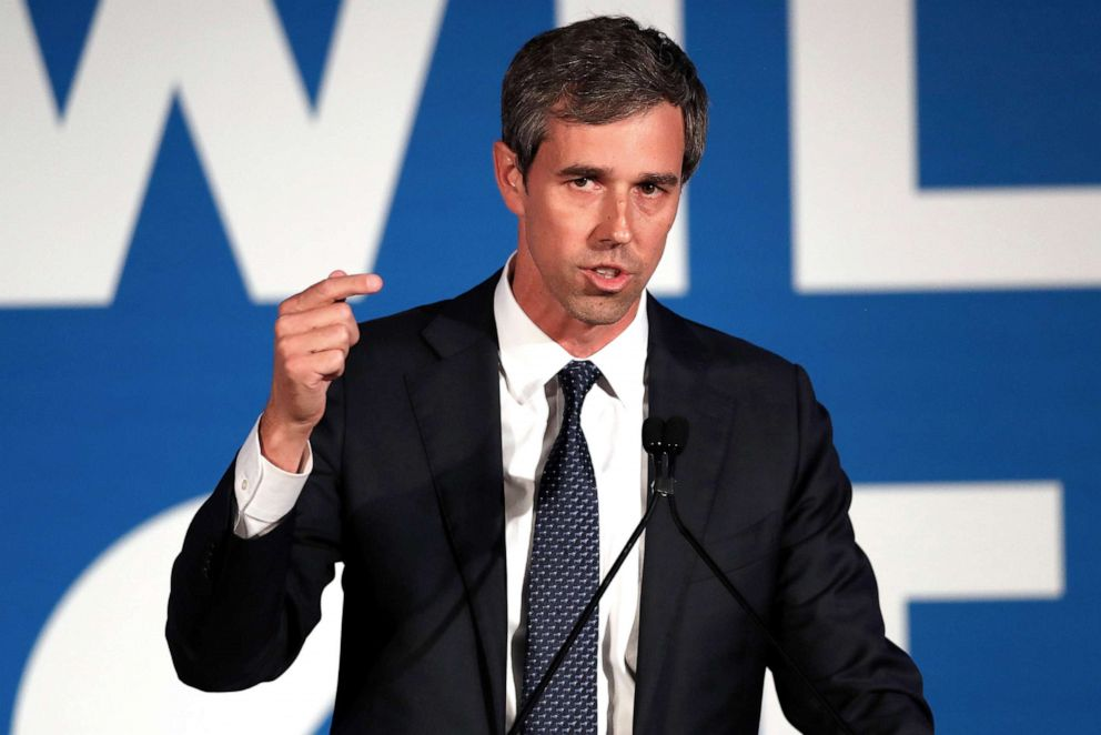 PHOTO:Democratic presidential candidate Beto ORourke speaks during the I Will Vote Fundraising Gala Thursday, June 6, 2019, in Atlanta.