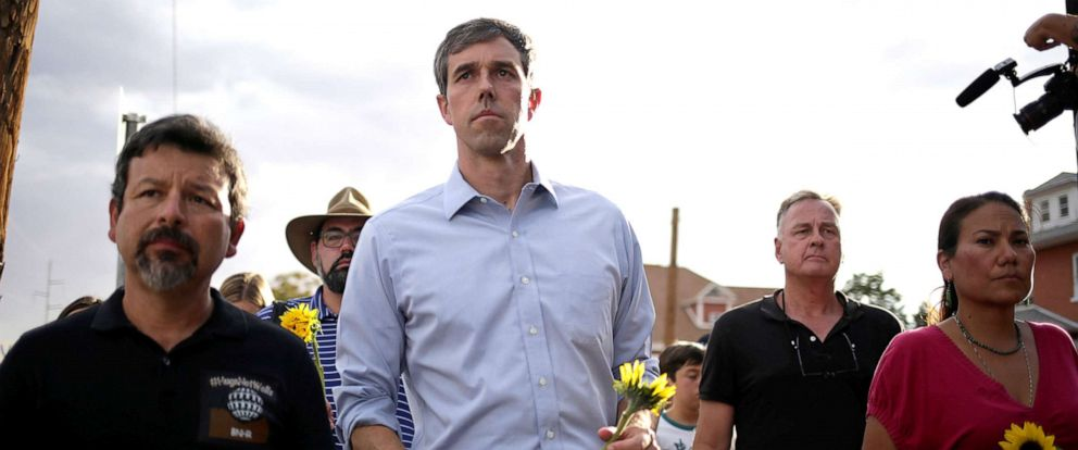 PHOTO: Democratic presidential candidate Beto ORourke takes part in a rally against hate a day after a mass shooting at a Walmart store, in El Paso, Texas, U.S. August 4, 2019. REUTERS/Jose Luis Gonzalez