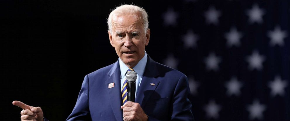 PHOTO: 2020 Democratic U.S. presidential candidate and former Vice President Joe Biden speaks during the Presidential Gun Sense Forum in Des Moines, Iowa, U.S., August 10, 2019.