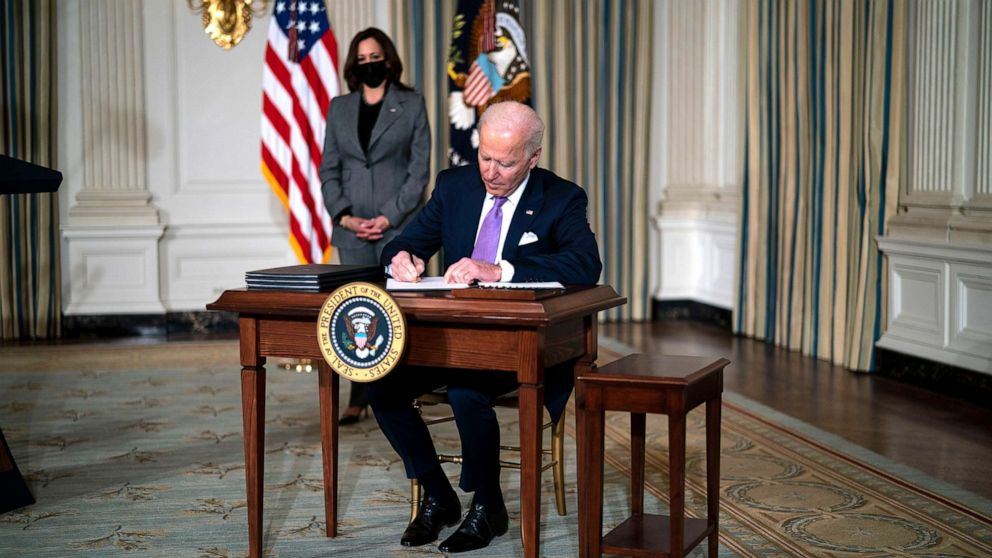 Here's all of the executive orders, notable actions Biden has issued so far