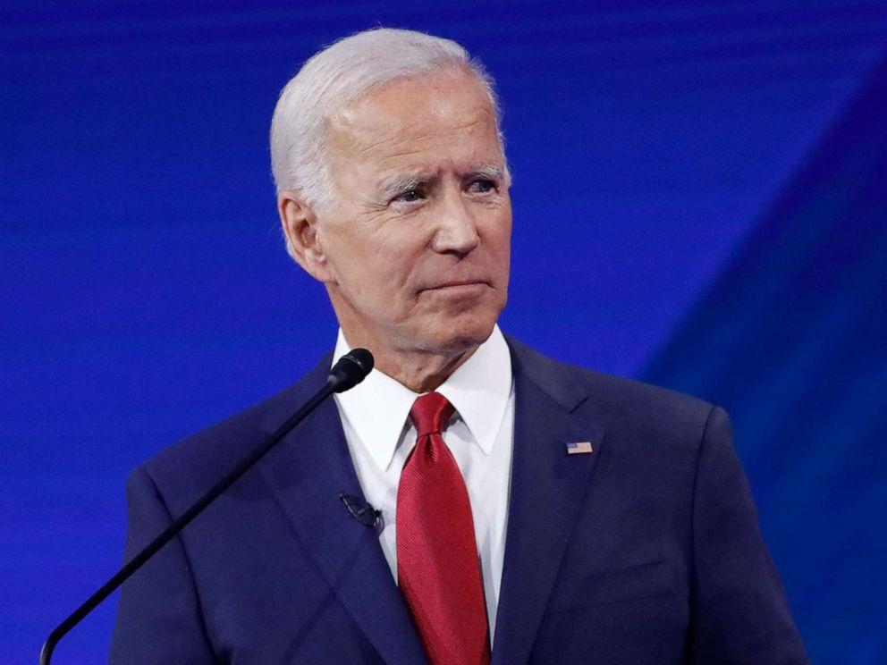 PHOTO: Former Vice President Joe Biden at the Democratic debate from Texas Southern Universitys Health & PE Center in Houston, Texas, Sept. 12, 2019.